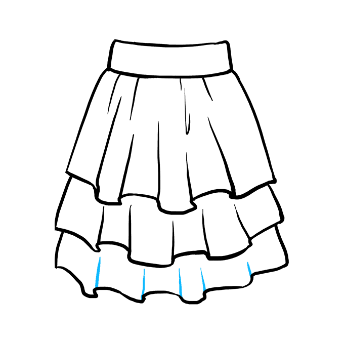 How to Draw a Skirt Step 08