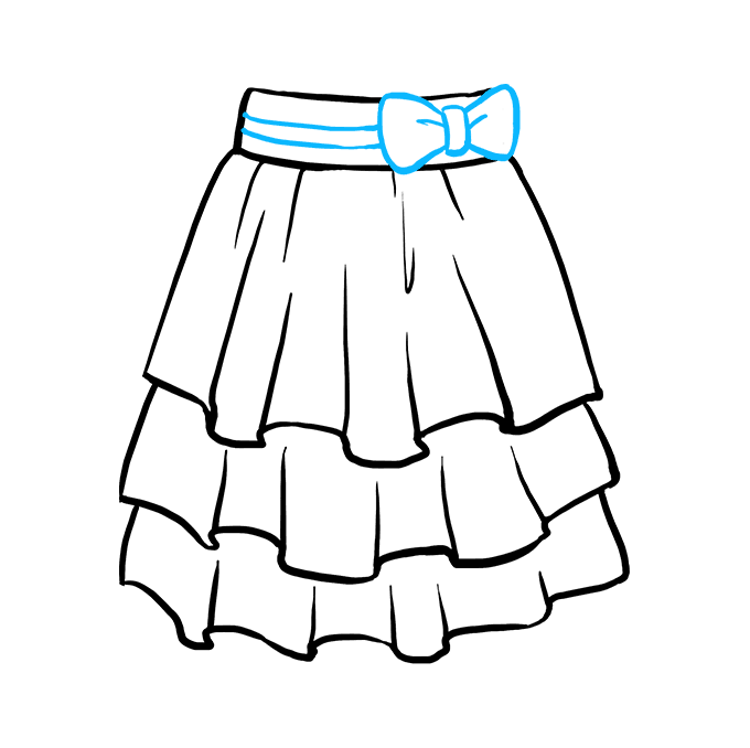 How to Draw Skirt: Step 9