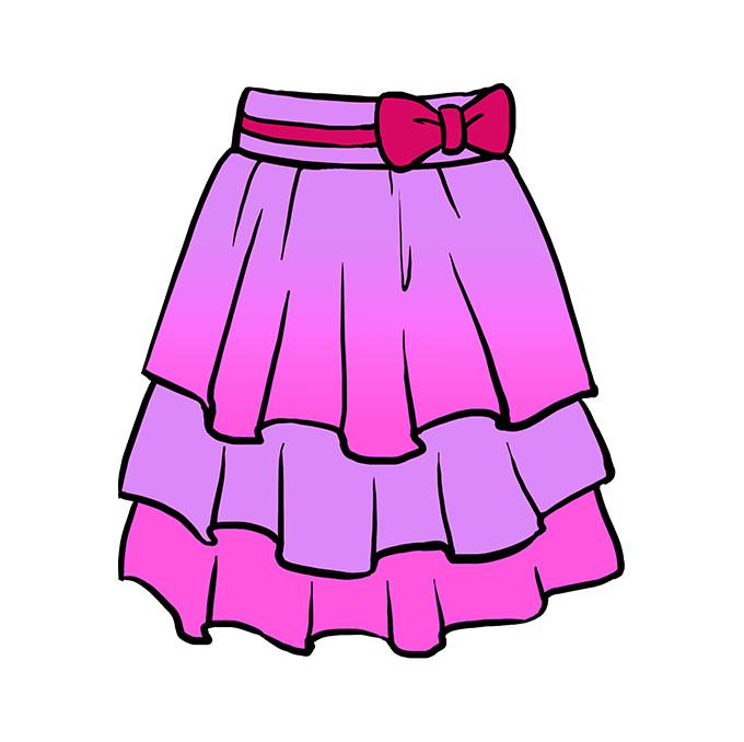 How to Draw Skirt: Step 10