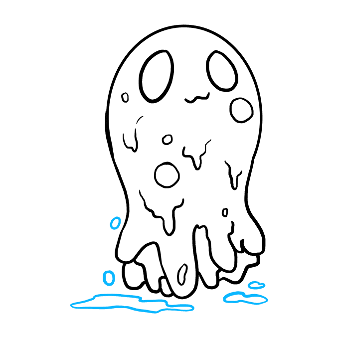 How to Draw Slime: Step 8