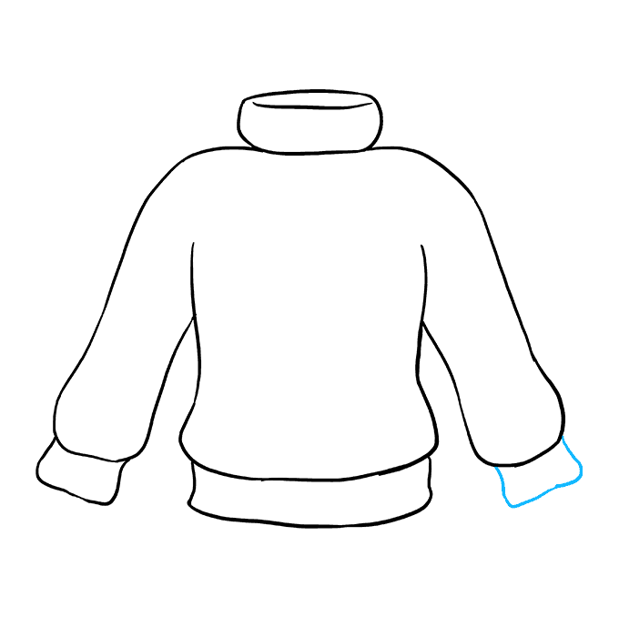 How to Draw Sweater: Step 7