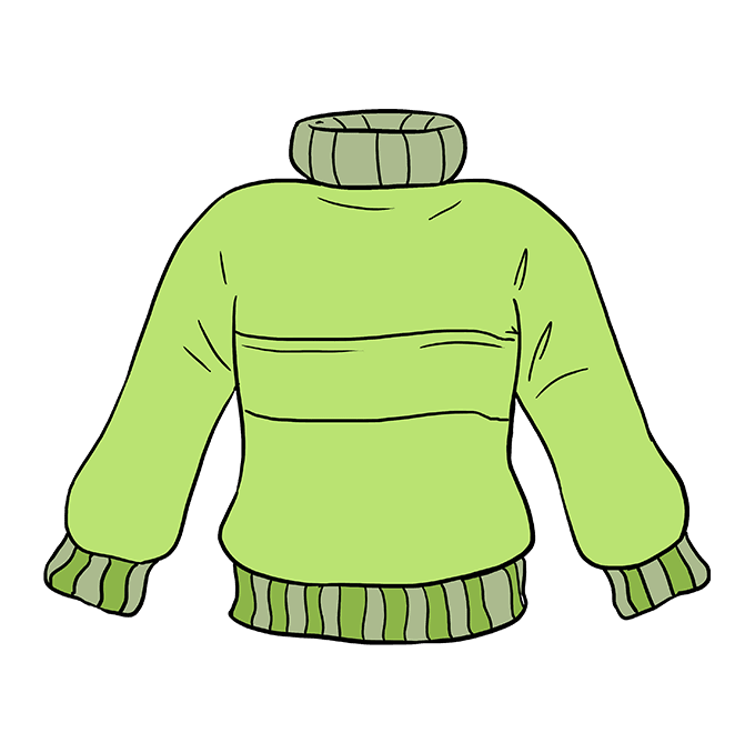How to Draw Sweater: Step 10