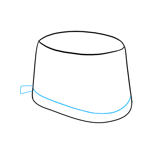 How to Draw Top Hat: Step 4
