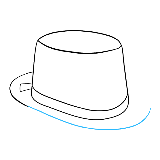 How to Draw Top Hat: Step 6
