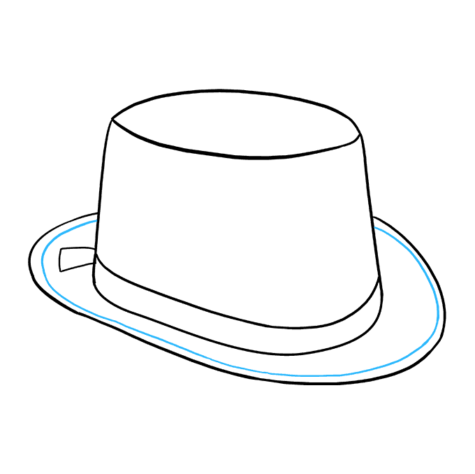 How to Draw Top Hat: Step 8