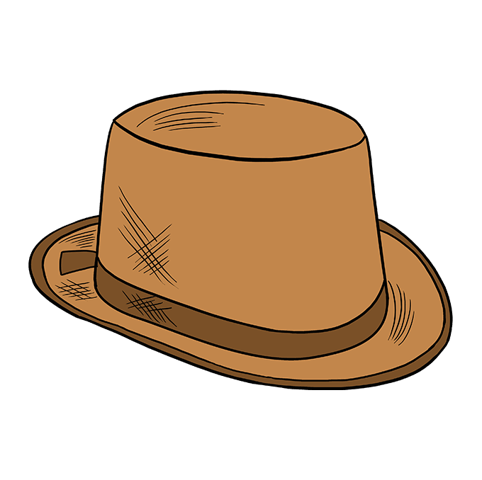How to Draw Top Hat: Step 10