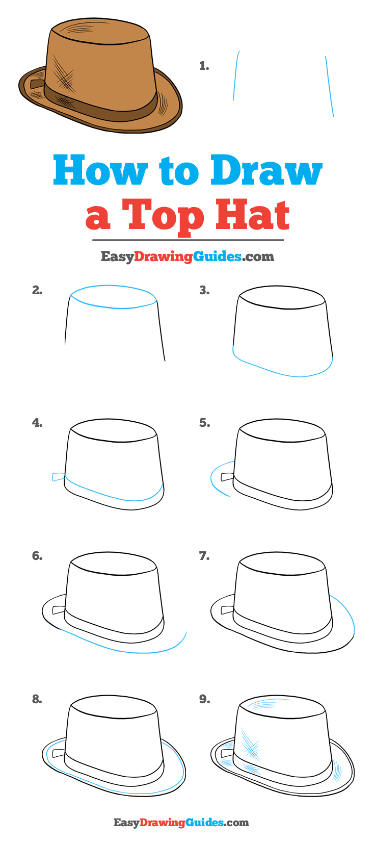 How to Draw Top Hat