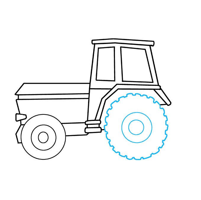 How to Draw Tractor: Step 8