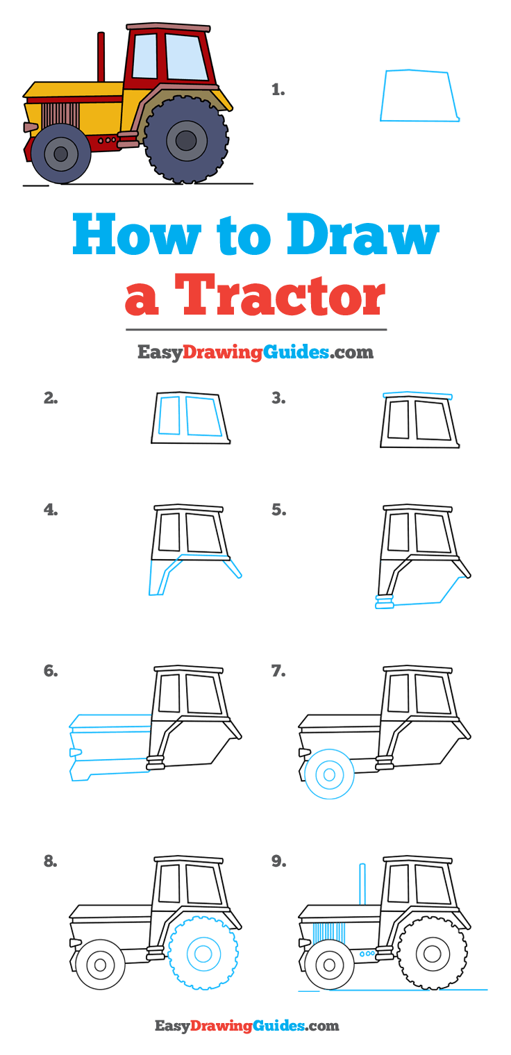 How to Draw Tractor