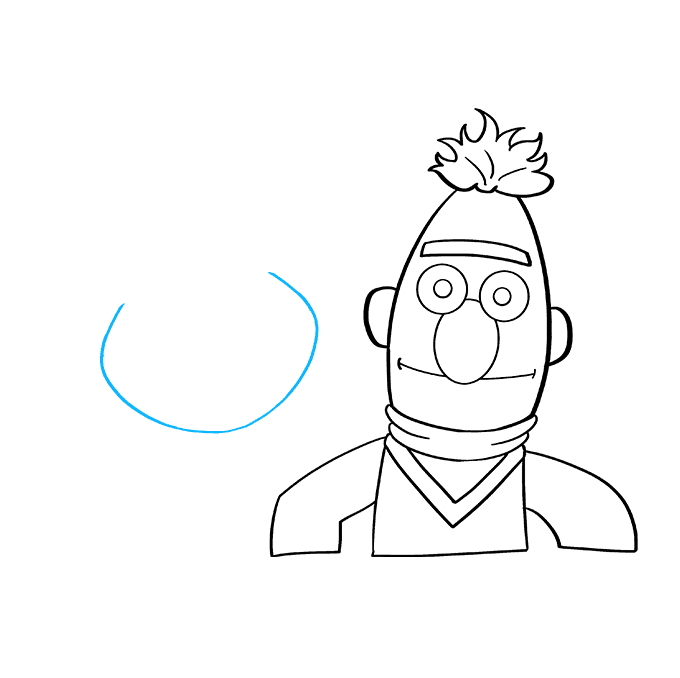 How to Draw Bert and Ernie from Sesame Street: Step 4