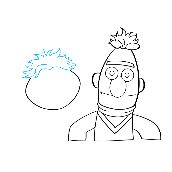 How to Draw Bert and Ernie from Sesame Street: Step 5
