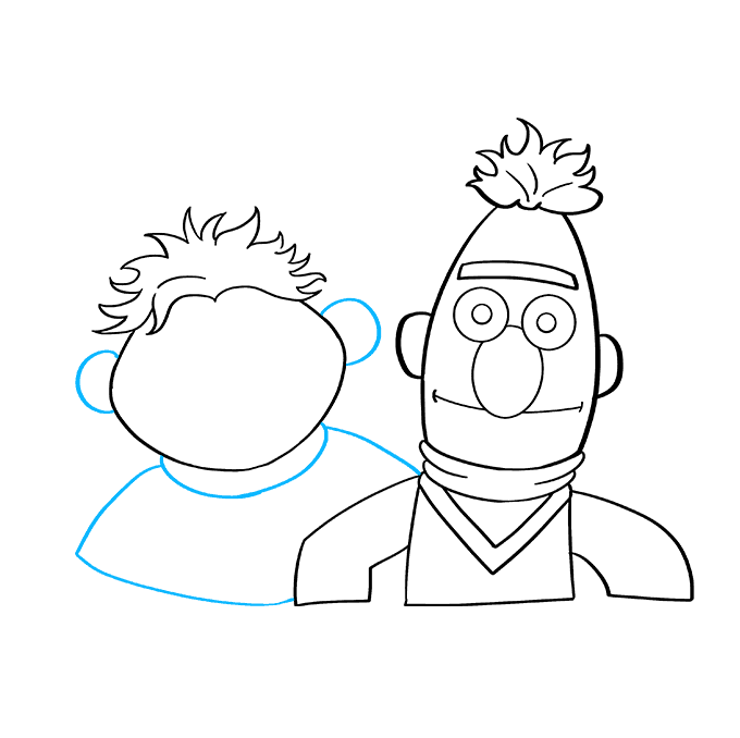 How to Draw Bert and Ernie from Sesame Street: Step 6