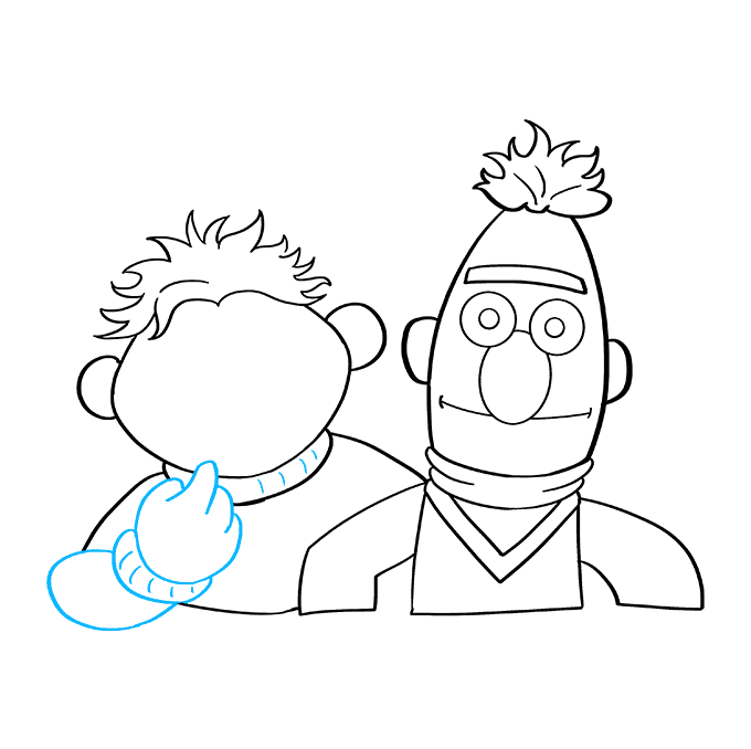 How to Draw Bert and Ernie from Sesame Street: Step 7