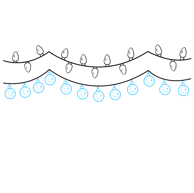 How to Draw Christmas Lights: Step 4