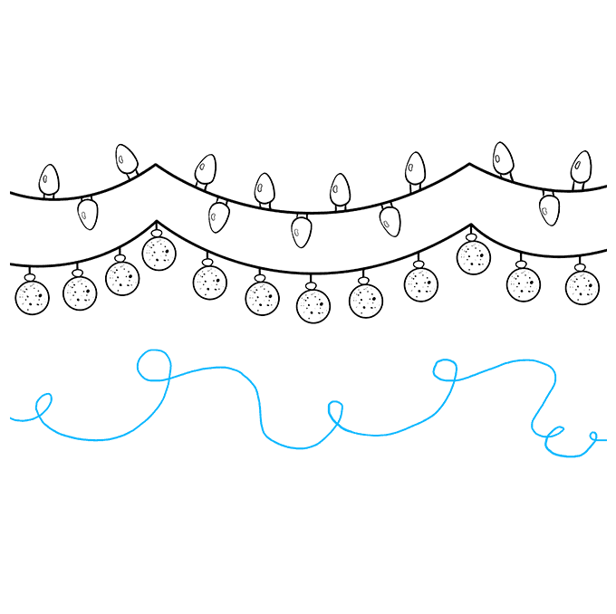 How to Draw Christmas Lights: Step 5