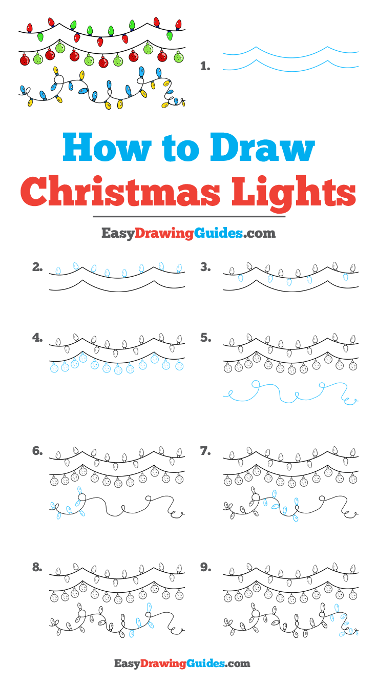 How to Draw Christmas Lights