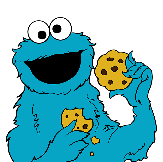 How to Draw Cookie Monster from Sesame Street: Step 10