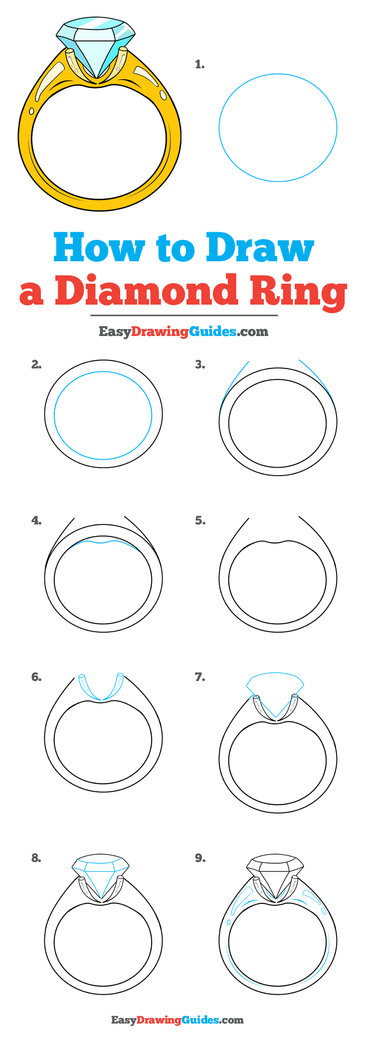 How to Draw Diamond Ring