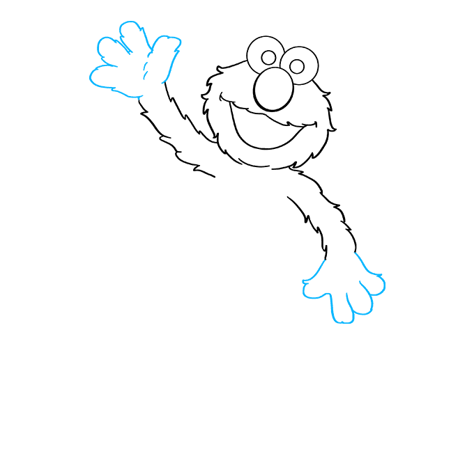 How to Draw Elmo from Sesame Street Step 05