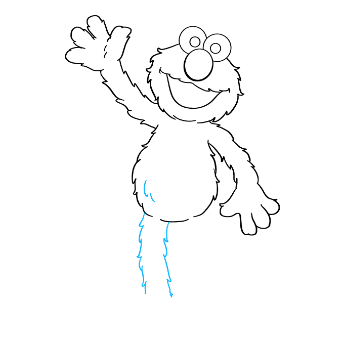 How to Draw Elmo from Sesame Street: Step 7