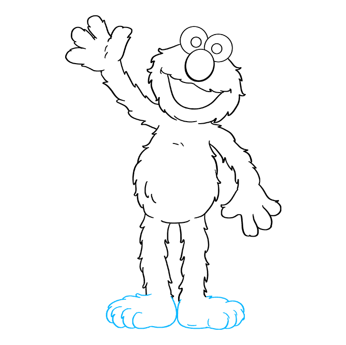 How to Draw Elmo from Sesame Street: Step 9