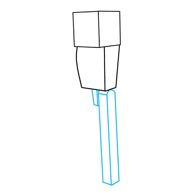 How to Draw Enderman from Minecraft: Step 3