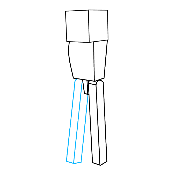 How to Draw Enderman from Minecraft: Step 4