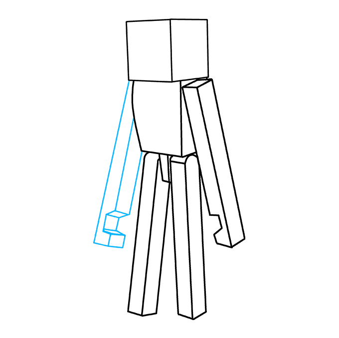 How to Draw Enderman from Minecraft: Step 7