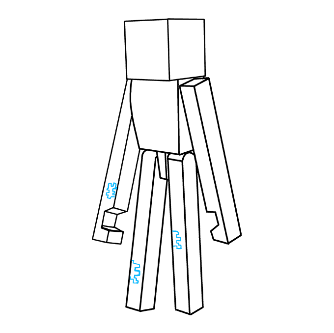 How to Draw Enderman from Minecraft: Step 8