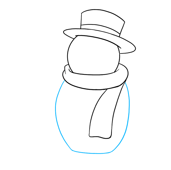 How to Draw Frosty the Snowman: Step 7