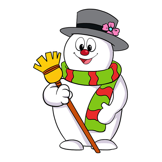 How to Draw Frosty the Snowman: Step 10