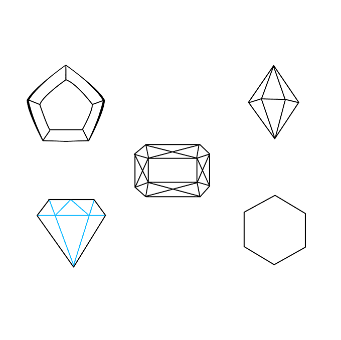 How to Draw Gems: Step 7