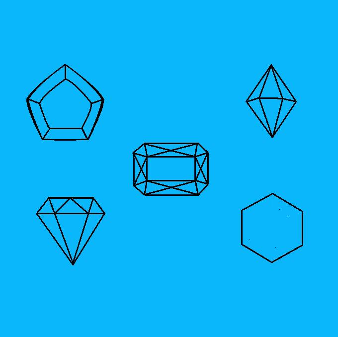How to Draw Gems: Step 8