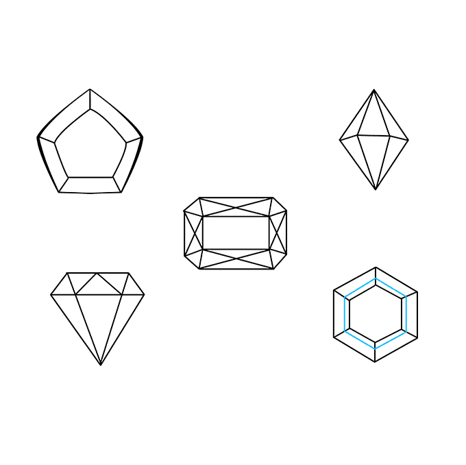 How to Draw Gems: Step 9