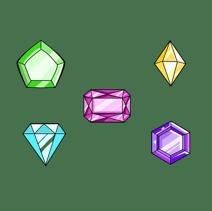 How to Draw Gems: Step 10