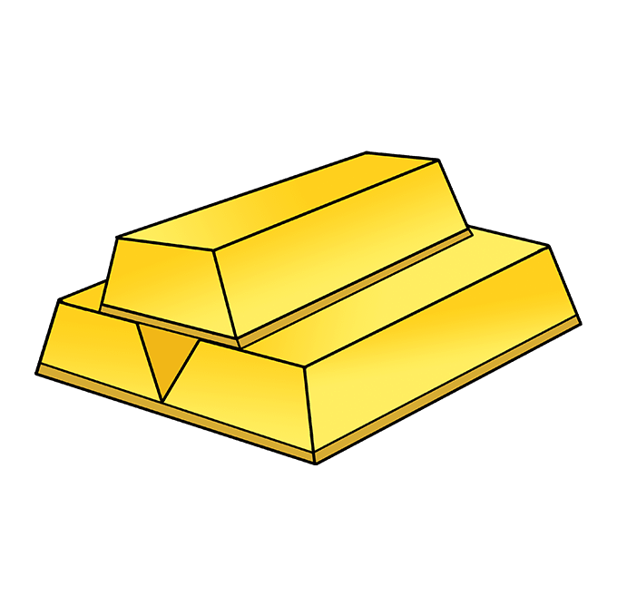 How to Draw Gold: Step 10