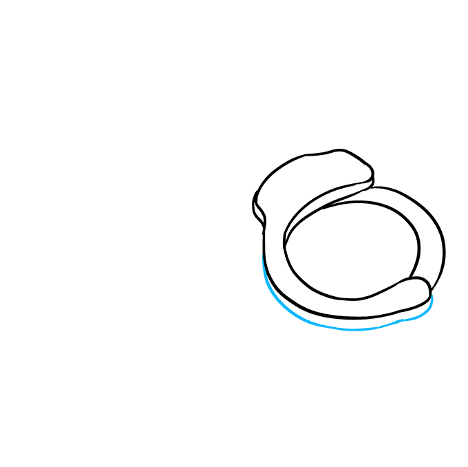 How to Draw Handcuffs: Step 3