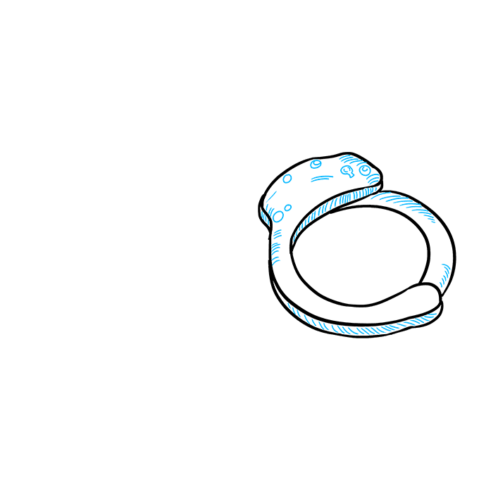 How to Draw Handcuffs: Step 4