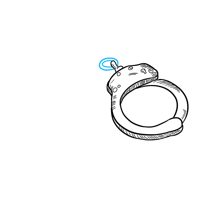 How to Draw Handcuffs: Step 6