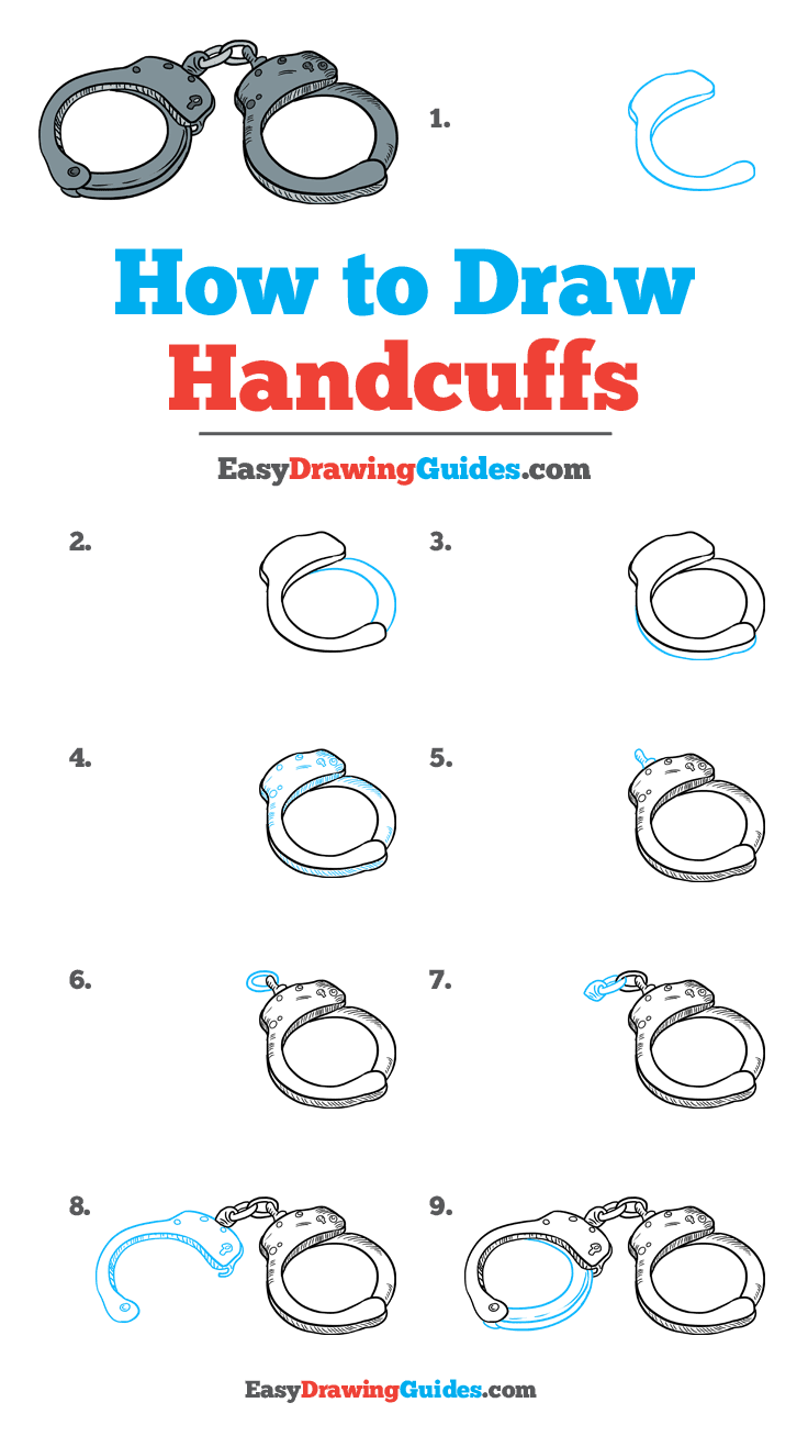 How to Draw Handcuffs