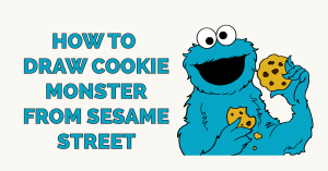 How to Draw Cookie Monster from Sesame Street Featured Image