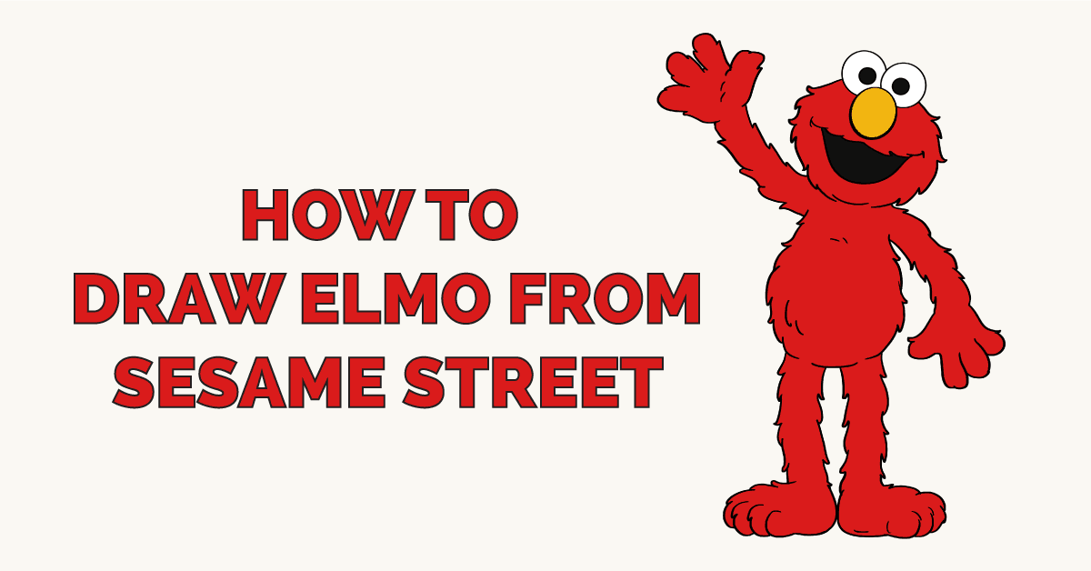 How to Draw Elmo from Sesame Street Featured Image