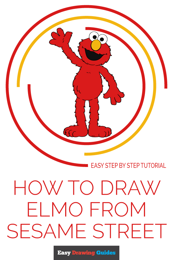 How to Draw Elmo from Sesame Street | Share to Pinterest