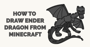 How to Draw Ender Dragon from Minecraft Featured Image
