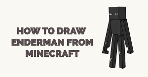 How to Draw Enderman from Minecraft Featured Image