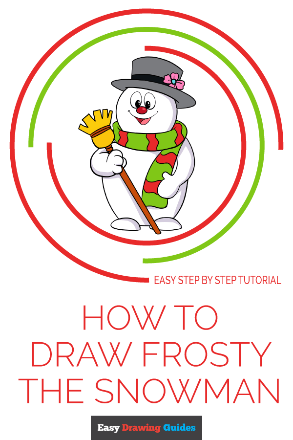 How to Draw Frosty the Snowman | Share to Pinterest