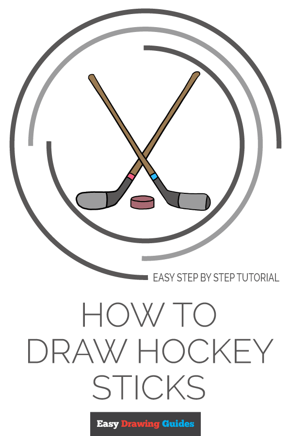 How to Draw Hockey Sticks Pinterest Image