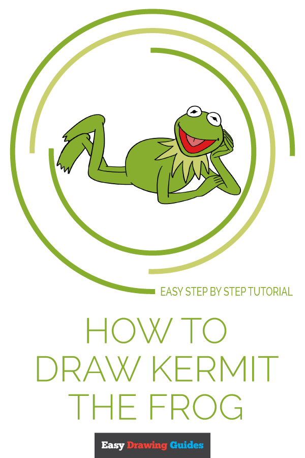 How to Draw Kermit the Frog Pinterest Image