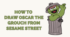 How to Draw Oscar the Grouch from Sesame Street Featured Image