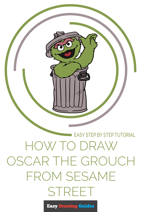 How to Draw Oscar Grouch from Sesame Street | Share to Pinterest